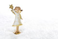 Christmas angel isolated for a christmas card or religious bac decoration guardian in white and gold greeting Royalty Free Stock Image