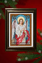 Christmas Angel Old Style Greeting Card Royalty Free Stock Image