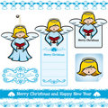 Christmas Angel Set Royalty Free Stock Photography