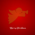 Christmas angel silhouette xmas greeting card Stock Photos