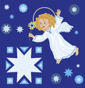 Christmas angel with star greetings a and a Royalty Free Stock Photos