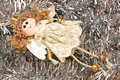 Christmas angel toy Stock Photo