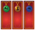 Christmas animal banners Stock Photo