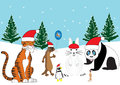 Christmas Animals Royalty Free Stock Photos