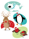 Christmas Animals Royalty Free Stock Images