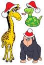 Christmas animals collection 2 Stock Image
