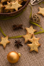Christmas anise star cookies Stock Photos