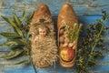 Christmas antique Baby Jesus Royalty Free Stock Photo