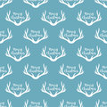 Christmas antlers silhouette seamless pattern. Xmas deer Illustration. Animal head texture. Design for textile, wallpaper, web, fa