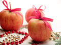 Christmas apples Stock Photos