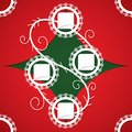 Christmas Applique Background. Stock Photo