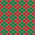 Christmas argyle background, seamless pattern incl Royalty Free Stock Photo
