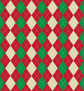 Christmas argyle pattern Stock Image