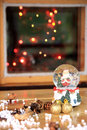 Christmas atmosphere and a glass ball Royalty Free Stock Photos