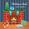 Christmas attributes. Christmas gift card. Christmas cheer. Flat design. Vector Royalty Free Stock Photo