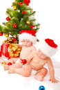 Christmas babies Royalty Free Stock Image