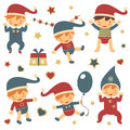 Christmas babies set Royalty Free Stock Photography