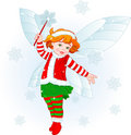 Christmas baby fairy Stock Photo