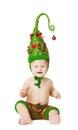 Christmas Baby Kid In Green Ha...