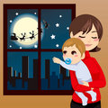 Christmas Baby Wish Stock Images