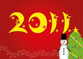 Christmas background 2011 Stock Image