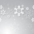 Christmas background with 3d snowflakes. Royalty Free Stock Images