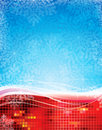 Christmas background abstract snowflakes design Royalty Free Stock Photography