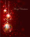 Christmas background with ball balls bow burd snowflackes and sparcks Royalty Free Stock Images
