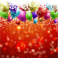 Christmas background with balloons Royalty Free Stock Photo