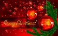 Christmas background with balls and fir branch Stock Photography