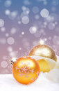 Christmas background with balls golden Stock Photos