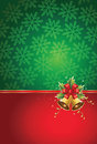 Christmas background with bells Stock Photography
