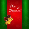 Christmas background with bells the Royalty Free Stock Image