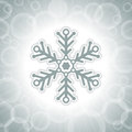 Christmas background with big snowflake design shape Stock Photography