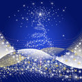 Christmas background blue decorative illustrations Royalty Free Stock Image