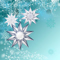 Christmas background blue decorative ilustration Royalty Free Stock Image