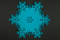Christmas background with blue snowflakes and copy space Royalty Free Stock Photo