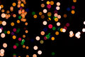 Christmas background of blurred lights Stock Photos