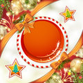 Christmas background with bow Royalty Free Stock Photo
