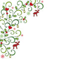 Christmas background with branches decorated Royalty Free Stock Photos