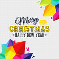 Christmas background with bright triangle elements vector illustration Royalty Free Stock Photography