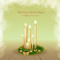 Christmas background with candles holiday Royalty Free Stock Images