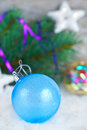 Christmas background with christmas ball Royalty Free Stock Photos