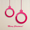 Christmas background with christmas balls red and stripes Royalty Free Stock Photo