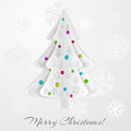 Christmas background with christmas tree balls and snowflakes Stock Images