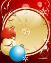 Christmas background with a clock Royalty Free Stock Images