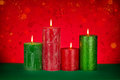 Christmas background with color candles Stock Image