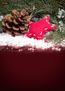 Christmas background with cone and star Royalty Free Stock Photos