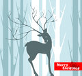 Christmas background deer Royalty Free Stock Photography