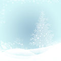 Christmas background elegant with snowflakes fir tree and gifts and place for text Royalty Free Stock Photos